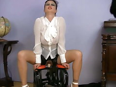 busty have planned MILF SEX Trainer riding sex machine