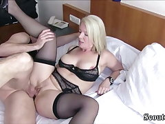 German MILF Caught Young Boy and Seduce him relating to Fuck