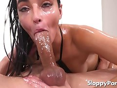 Oiled anal yon lubed Emily Willis