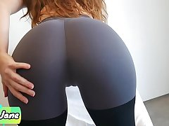 Step Sister Makes Me Cum in Her Undershorts and Yoga Pants and Pull Them up
