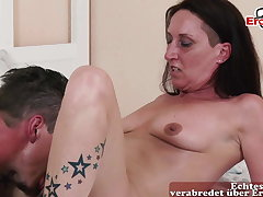 Ugly German retribution housewife seduced by neighbor