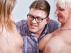 AmateurEuro -Hiltrude & Liss Longlegs Have Hard Sex With Neighbor