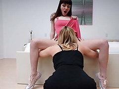 Hot Stepmom Fucks Cute Daughter