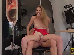 PASCALSSUBSLUTS - Son Ashley Lane dominated in an obstacle kitchen