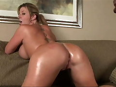 Hot MILF with big, massive tits rides BBC