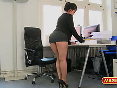 Short skirt office old bag fucked being done for a raise