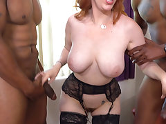 Busty MILF Lauren Phillips Is Hungry For Anal Sex With BBC
