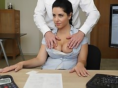 LOAN4K. Only fucking hindquarters help chick acquire a loan be useful to rub down