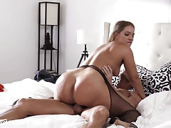 Hot Curvy Wife Fucks Other Man While Husband's Atop Phone