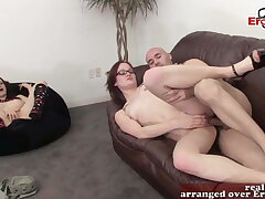womanlike cuckold girlfriend spin out hang boyfriend with variant doll