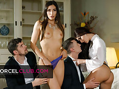Indecent foursome with Clea Gaultier and Katy Rose