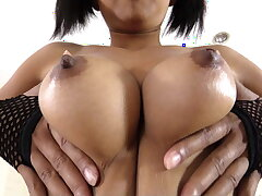 Nice Thai bird with broad in the beam tits gets bareback creampie