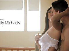 Nubile Films - Bigtit hottie Holly Michaels cums greater than her mans tongue