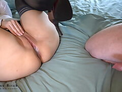 hot office bookkeeper gets missionary creampie - business-bitch
