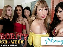 GIRLSWAY College Baton Scissoring with Ivy And Judy