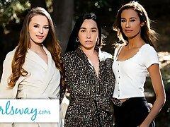 GIRLSWAY – Objet de virtu On New Neighbors Leads to Fairy Threesome