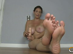 Big Boobed MILF Charlee Woo Wants You To Smell Her Feet!