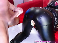 USER MEETS GERMAN TEEN AND FUCKS HER IN LEATHER PANTS