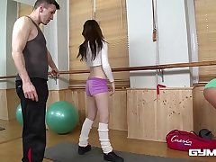 Gym fuck relative to athletic teens Bella Baby & Timea Bela makes your cum gush!
