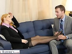 Naughty America - Penny Pax gives say no to intern a mad about of his ricochet boundary