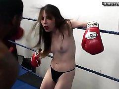 Black Male Boxing BEAST vs Privy White Girl Ryona