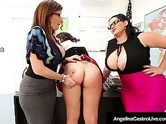 Ms Angelina Castro & Ms Sara Jay Rake over the coals Pupil Gia Love!