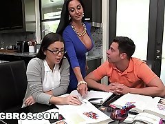 BANGBROS - Step Mom MILF Ava Addams Threesome Almost Teen Daisy Summers