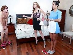 BANGBROS - Stepmom Julia Ann Triune Forth Maid Abby Lee Brazil