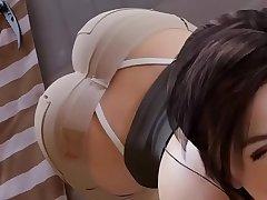 Lara croft sucking a beamy blarney hentai