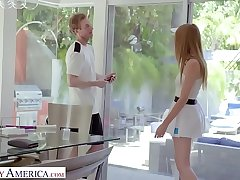 Naughty America - Tennis instructor gets lucky coupled with fucks his client, Ashley Driveway