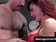 Patriarch Lady Sexy Vanessa Gets Big Cock Banged Unconnected with Alex Legend!