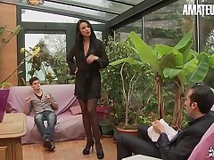 Dilettante EURO - This Busty Polish MILF Ania Kinski Gets DP From French Shush & Stepson