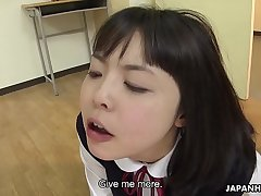 Japanese darling, Tomoyo Isumi sucks dicks, uncensored