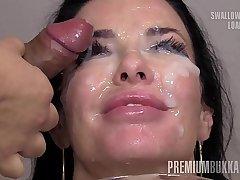 Premium Bukkake - Veronica Avluv swallows 66 elephantine mouthful cum loads
