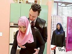 Arab Daughter In Hijab Fucks Father- Ella Knox