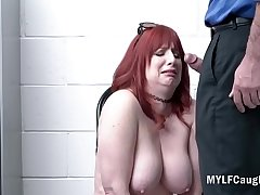 Redhead MILF Didn't Take for granted Cop Would Inspect Her Ass- Amber Dawn