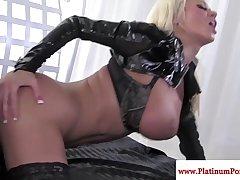 Nikita Von James gets chew of cum