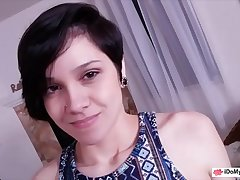 Short hair teen posed denude and screwed by her stepdad