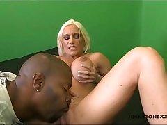 Blonde Pornstar Ashley Chambers Sucks on BBC