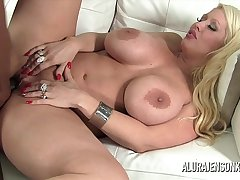 Broad in the beam knocker pornstar Alura Jenson loves big black cock